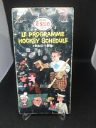 60/61 Esso Imperial Nhl Hockey Schedule Toronto Maple Leafs Montreal Canadien