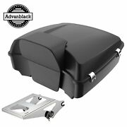 Advanblack Unpainted Chopped Tour Pack Pak Trunk Luggage Fits Harley Touring 97+