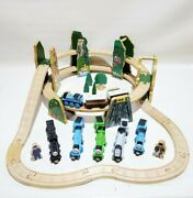 Thomas The Train Rare Mountain Risers With Trains And Tracks Wooden Set