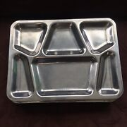 Vintage Metal Divided Cafeteria Trays School Navy Military Mess Hall 40s 50s X15