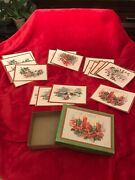 Vintage Quality Crest Boxed Christmas Cards Unused No Envelopes Box Included