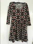 Charlotte Russe Dress With Quarter Sleeves Scoop Neck Size Medium