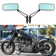 For Harley Davidson Fatboy Street Road Glide Custom Rectangle Motorcycle Mirrors