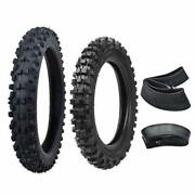 60/100-14 80/100-12 Front An Rear Tires Tube For Yz50 Yz60 Pw80 Ttr90 Pit Bike