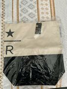 Brand New With Tag Sold Out Starbucks Reserve Black And White Canvas Tote Bag