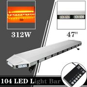 47 104led Light Bar Emergency Warn Recovery Tow Truck Top Roof Beacon Amber