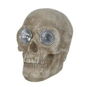 Halloween Prop Pumpkin Hollow 5.88 Skull With Led Eyes Me A15