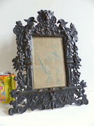 Amazing Large Antique 19th Century Solid Bronze Picture Photo Frame 1880and039s 1