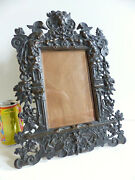 Amazing Large Antique 19th Century Solid Bronze Picture Photo Frame 1880's 2
