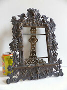 Amazing Large Antique 19th Century Solid Bronze Picture Photo Frame 1880's 3