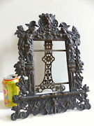 Amazing Large Antique 19th Century Solid Bronze Picture Photo Frame 1880's 4