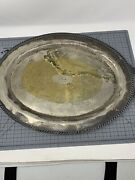 Vintage Antique Silver On Copper Metal Tray Large Sheets Rockford S Co 1875 3612