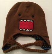 Domo Reversible Laplander Knit Beanie Winter Hat Brown One Size Holiday Unisex