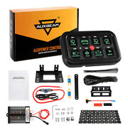 Auxbeam 8 Gang Led Touch Switch Panel Box Control System Green Car Auto Marine