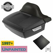 Unpainted King Tour Pack Trunk Luggage Wrap-around Backrest Fits 97-20 Harley