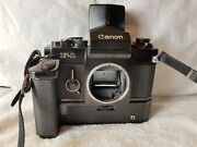 Canon F1 35mm Camera, Canon Speed Viewfinder And Power Motor.