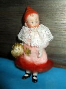 Antique Funny Bisque Clown Doll /mignonette Made In Germany