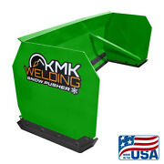 6and039-10and039 Green Skid Steer Snow Pusher Bobcat/kubota/commercial Grade/quick Attach