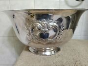 Webster Wilcox International Silver Plated Punch Bowl 16 Wide 8 3/8 Tall