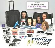 Professional Student Cosmetology Kit-premium Lev With Carrying Case And Tote Bag