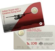 2020 1 Unc Qantas Centenary Indian Ocean Epic Catalina Flying Boat Coin In Card
