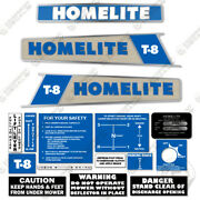 Homelite T-8 Riding Mower Decal Kit Equipment Decals