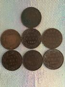Canada Victoria Bronz One Large Cents 1859,1882,1886,1887,1892,1895,1896
