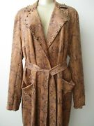 179 Sheryl Crow Faux Suede Brown Snake Design Studded Jacket Size 2x - Nwt