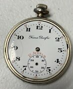 Vintage Trans Pacific Langendorf Pocket Watch Movement In Case- Not Running
