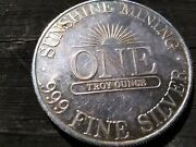 1 X 1982 Very Rare Sunshine Silver From Sunshine Mining This Is For One Ounce
