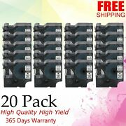 20pk Compatible For Dymo 45803 Black On White Label Manager 500ts/450d/360d/420p