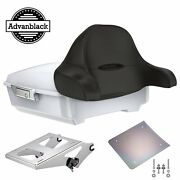 Crushed Ice Pearl Chopped Tour Pack Wrap-around Backrest Fits Harley 97-20
