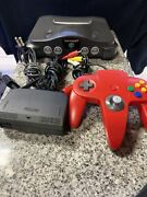 Amazing Combo Nintendo 64 Console W/ 1 Red Control And 22 Games All With Box