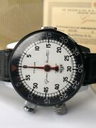 Vintage Heuer Turler Stopwatch Game Master Left Handed Model Box And Papers