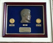 Jfk Commemorative Coin Set. Certificate Of Authenticity. No.357 Of 2000 In...