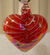 Cupid Red Heart Limited Edition Ornament By Glass Eye Studio, Made Usa1214oas 1