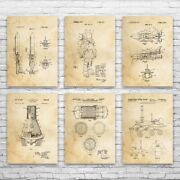 Nasa Space Patent Posters Set Of 6 Astronaut Gift Astronomy Lover Nasa Wall Art