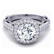 Round Cut 0.95 Ct Real Diamond Wedding Rings Solid 14 K White Gold Ring 5 6 7