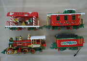 New Bright Christmas Special Model Train Set G Scale Locomotive Cars 1986