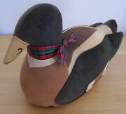 Large Weighted Fabric Duck By Ducks And Company Usa
