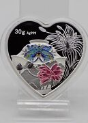 China 2020 Implies Happy And Lasting Marriage 百年好合 Heart Silver Medal 30g Coa