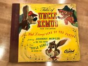 1947 Tales Of Uncle Remus For Children 78 Rpm 3 Record Lp Capitol Records