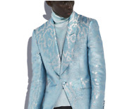 Tom Ford Blue Jacquard Atticus Cocktail Blazer Jacket-with Tags- Rrp5760 Aud
