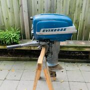 Vintage 50andrsquos Evinrude Super Fastwin Outboard Motor - Was Working - Repair Parts