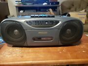 Philco Portable Am/fm Stereo And Cassette Player And Boom Box-vintage Tested Works
