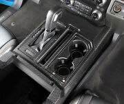 For Ford F150 2015-2019 Real Carbon Front Gear Shift Board Decorative Cover Trim