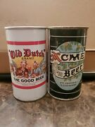 Old Dutch Acme Empty Beer Cans
