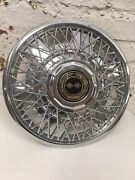 Set Vintage Chrome Chevrolet Chevy Hubcap Wire Spoke Wheel Cover 15 Aftermarket