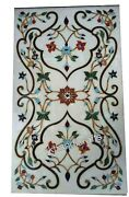 Marble Coffee Table Top Heritage Art Center Table With Multi Color Gemstone