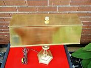 Antique Brass Lamp / Table / Desk / Piano / Bankerand039s Lamp / Made In England